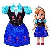 Disney Frozen Anna Doll & Toddler Dress Gift Set