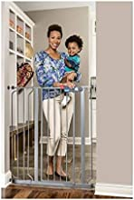 Regalo Deluxe Easy Step 41quot Extra-tall Walk Through Pet amp Baby Safety Security Gate Platinum -