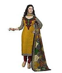SHOP INTEGRITY GOLD YELLOW COTTON DRESS MATERIAL