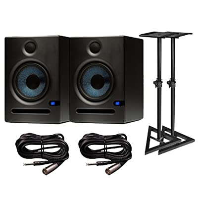 "PreSonus Eris E5 2-Way 5.25"" Nearfield Studio Monitor Pair w/ Stands & Cables by PreSonus"