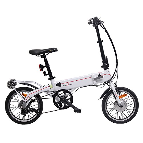 "unYOUsual U synergy 16"" Electric Folding Bike Bicycle Samsung Lithium-Ion Battery 24V 250W SHIMANO Nexus 3 Gear"