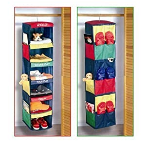 Amazon.com - Monday - Friday Clothes Organizer - Hanging Shelves