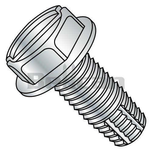 "Qty 100  5//16-18 x 3//4/"" Slotted Hex Bolt Thread Cutting Screw Zinc Plated Type F"