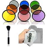 Opteka Multicoated Solid Color Filter Kit for Pentax K-S1 - K-500 - K-50 - K-30 - K5 IIs - K-7 - K-5 - K-3 - K-2 - K-X - K20D - K100D - K110D and K10D Digital SLR Cameras (Fits 52mm and 58mm Threaded Lenses)