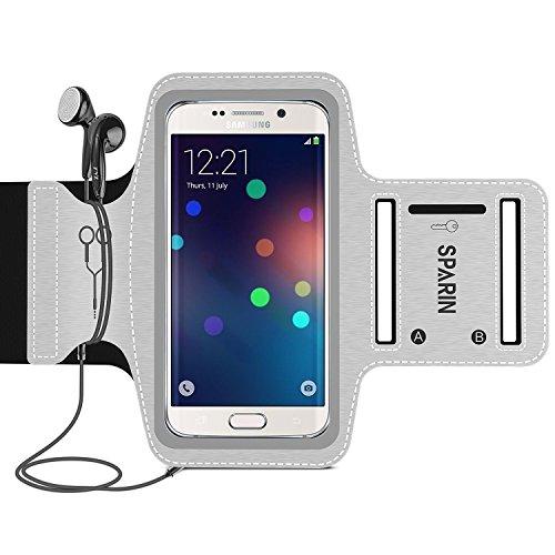 Galaxy S7 Etui Brassard Armband, SPARIN Brassard Sport Pour Samsung Galaxy S7/S6/S5/S4 pour Jogging/ Gym/ Course avec fente écouteurs, pochette clés