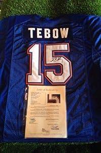 Signed Tim Tebow Jersey - loa Ncaa - JSA Certified - Autographed College Jerseys by Sports Memorabilia