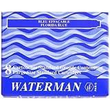 ウォーターマン WATERMAN 万年筆 カートリッジインク フロリダブルー(8本)