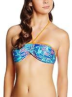 JUST CAVALLI Sujetador de Bikini (Azul / Naranja)
