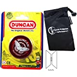 Duncan Butterfly Yo Yo (Red) Beginners Entry Level Yo Yo With Travel Bag! Great Yo Yos For Kids And Adults!
