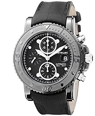 [Mont Blanc] MONTBLANC watch SPORT black dial automatic winding 200m water resistant stainless steel (BKPVD) alligator leather 104279 Men's parallel import goods]