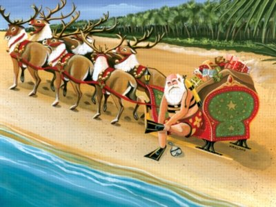 Santa's On Vacation - 550pc Serendipity Jigsaw Puzzle