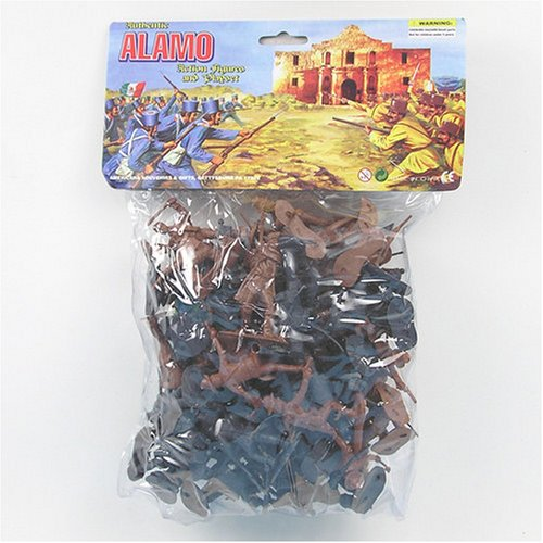 Buy 55 Piece Battle for the Alamo 60mm Texan and Mexican Soldier Plastic Army Men Figures Toy Set