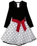 Bonnie Jean Big Girls' Hipster Dress With Glitter Skirt