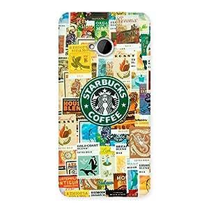 Impressive Coffee SB Multicolor Back Case Cover for HTC One M7