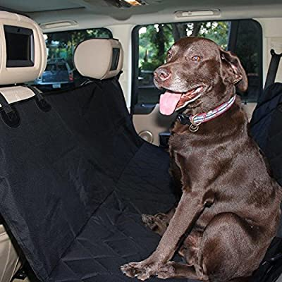 Best Pet Seat Cover Auto Back Rear Seat Barrier, Quilted Waterproof Hammock Style Car Seat Cover for Dogs with Protector Pad Anti Slip for Rear SUV Trucks Cars with Bench or Bucket Car Seat Side Flaps