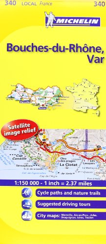 Michelin Map France: Bouches-du-Rhne, Var MH340 (Maps/Local (Michelin)) (English and French Edition)