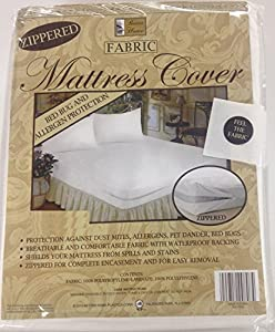 Amazon Com Zippered Fabric Mattress Cover Protects