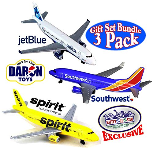 Daron Southwest, JetBlue & Spirit Airlines Die-cast Planes