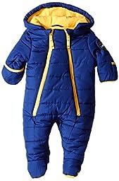 Weatherproof Baby-Boys Newborn Double Zipper Puffer Pram, New Blue, 6/9 Months