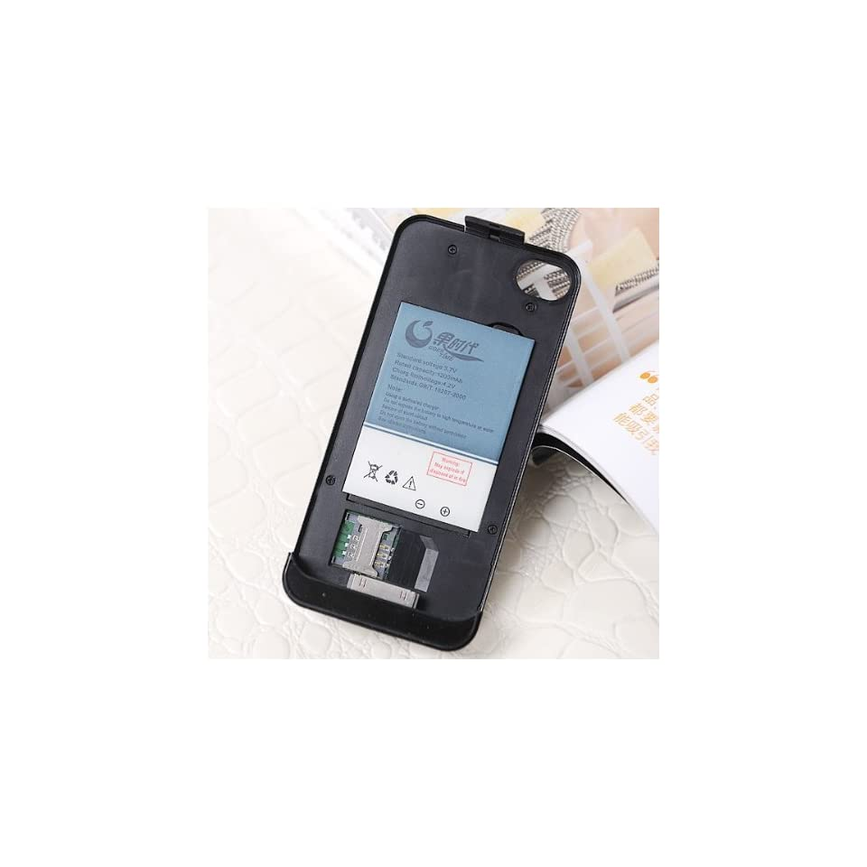 Dual SIM Card Dual Standby Backup Battery Case Cover for iPhone 4G