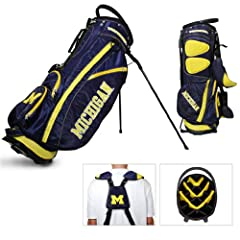 Brand New University of Michigan Wolverines Fairway Stand Bag by Things for You