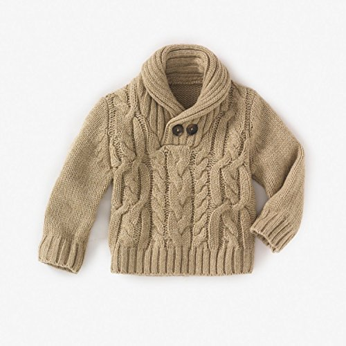 La Redoute Baby Boys Baby Boy?? Shawl Collar Sweater Beige 9 Months - 28 In. back-1014812