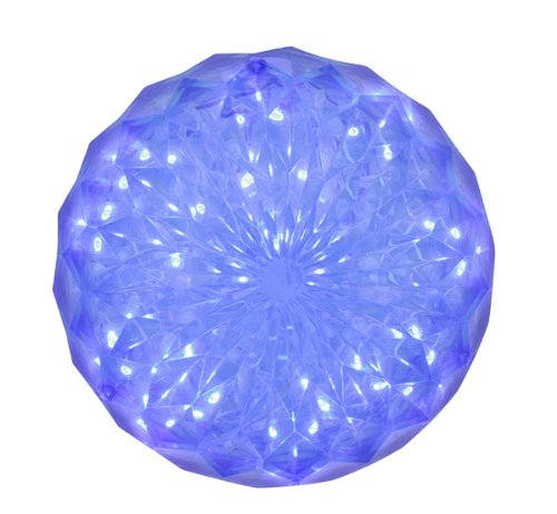 Blue LED Lighted Hanging Crystal Sphere Ball