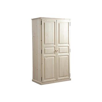 Armario de 2 puertas de madera en bruto (100 x 56 x 180 cm)