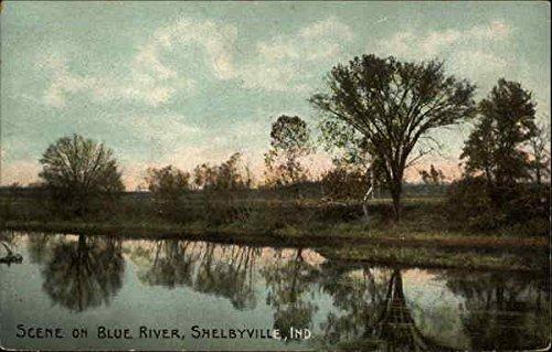 Scene on Blue River in Shelbyville, Indiana