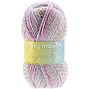 Mary Maxim Sugar Baby Stripes Yarn, Jelly Bean