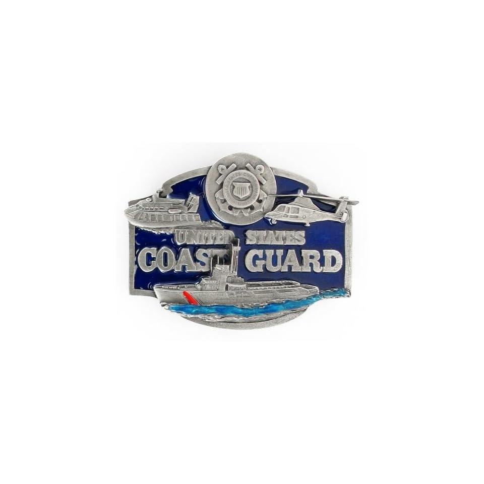 United States Coast Guard Pewter Belt Buckle Sports