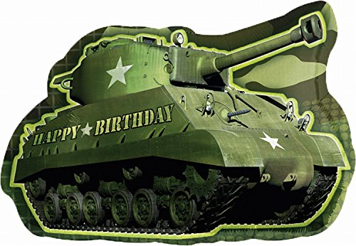 Anagram International Army Tank Birthday Shape Pack, 26""