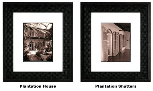 International Arts Plantation House & Plantation Shutters Framed Artwork in Sepia