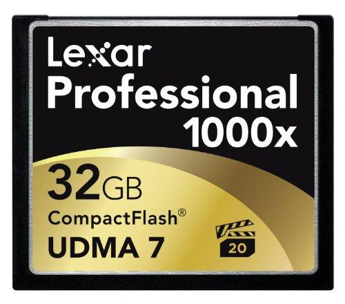 Lexar Professional 32GB 1000x 150MB/s High Speed UDMA CompactFlash Memory Card