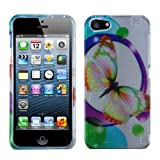 MyBat Apple iPhone 5s/5 Phone Protector Cover - Retail Packaging - Colorful Butterfly