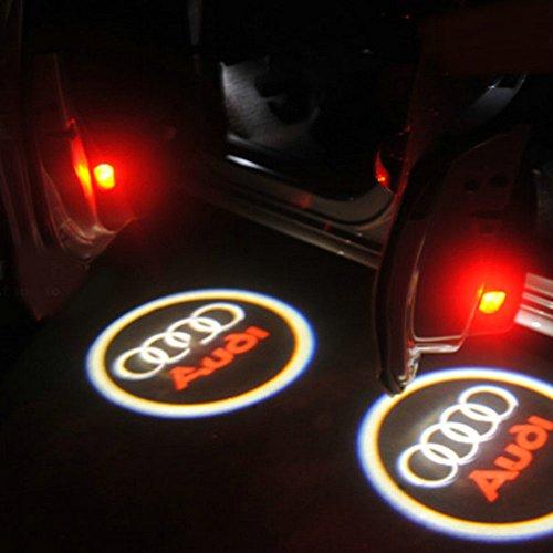 2 X 5Th Gen Led Car Door Ghost Shadow Laser Projector Logo Light For Audi A1 A2 A3 A4 A5 A6 A8 Q7 S4 Rs4 S5 Tt