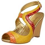 Apepazza Women's Naida Ankle Strap Wedge