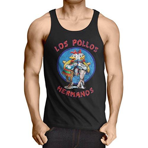 style3-Los-Pollos-Camiseta-de-tirantes-para-hombre-Tank-Top-white-walter-meth