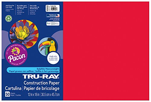 pacon-tru-ray-construction-paper-12-inches-by-18-inches-50-count-festive-red-103432
