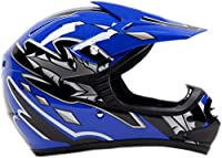 Youth Offroad Gear Combo Helmet Gloves Goggles DOT Motocross ATV Dirt Bike MX Motorcycle Blue, Large by Typhoon Helmets