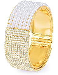 Sukkhi Glamorous Gold Plated AD Moti Kada For Women