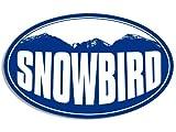 OVAL SNOWBIRD Mountain BG Sticker (snow ski resort)