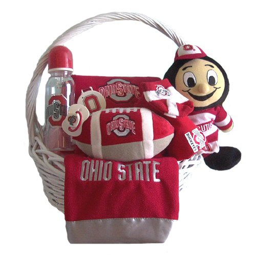 Ohio State Buckeyes Baby Gift Basket 3-6 or 6-9 Month ***TOUCHDOWN***