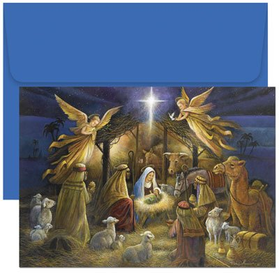 A Holy Scene Christmas Cards and Envelopes -