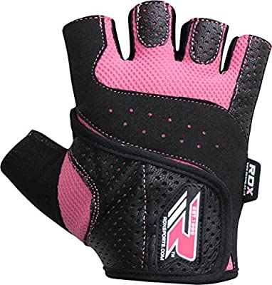 Authentic RDX Ladies Gel Gloves Fitness Gym Wear Weight Lifting Workout Training Cycling Pink from RDX