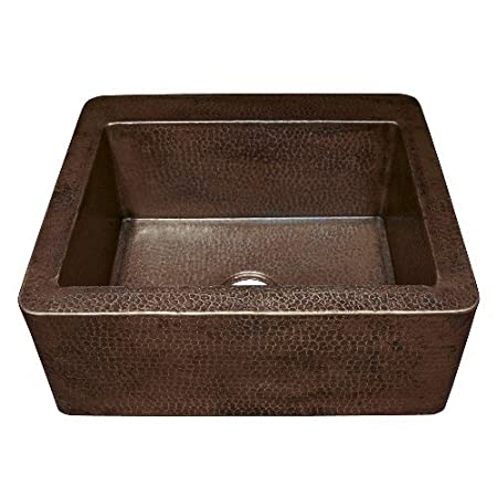 "Farmhouse 25.5"" x 22"" Copper Kitchen Sink Finish: Antique Copper"