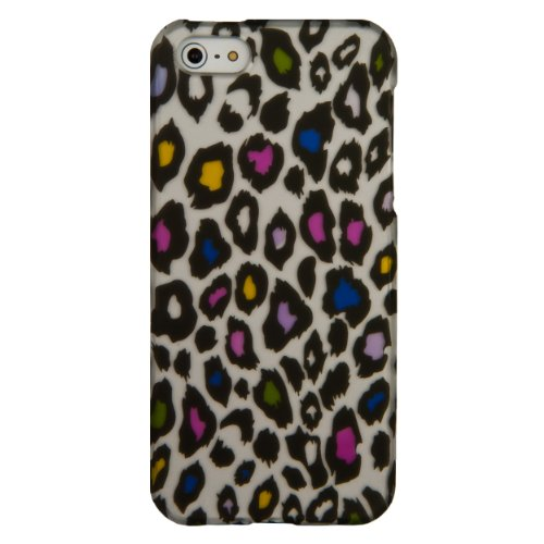 (Colorful Leopard) Sumaclife Crystal Snap On Faceplate Shield Protector Case Cover For Apple Iphone 5 (16Gb 32Gb 64Gb)