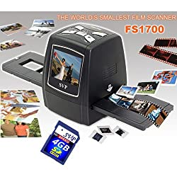 SVP FS1700(with 4GB SD card) Black Digital Film Scanner w/ 2.4