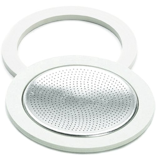 Bialetti Gasket Filter Plate Replacement Parts, 4-Cup Brikka