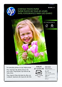 HP 100sheet Everyday Photo Paper   4x6